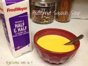 Butternut Squash half & half