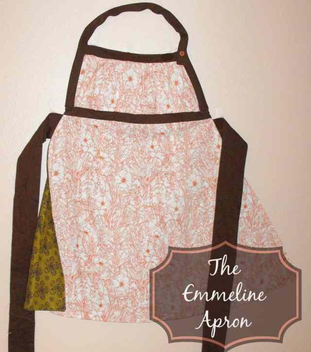 Emmeline Apron in Orange and Cream