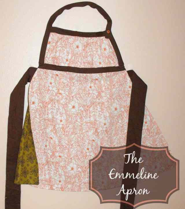 Emmeline Apron in Orange and Cream