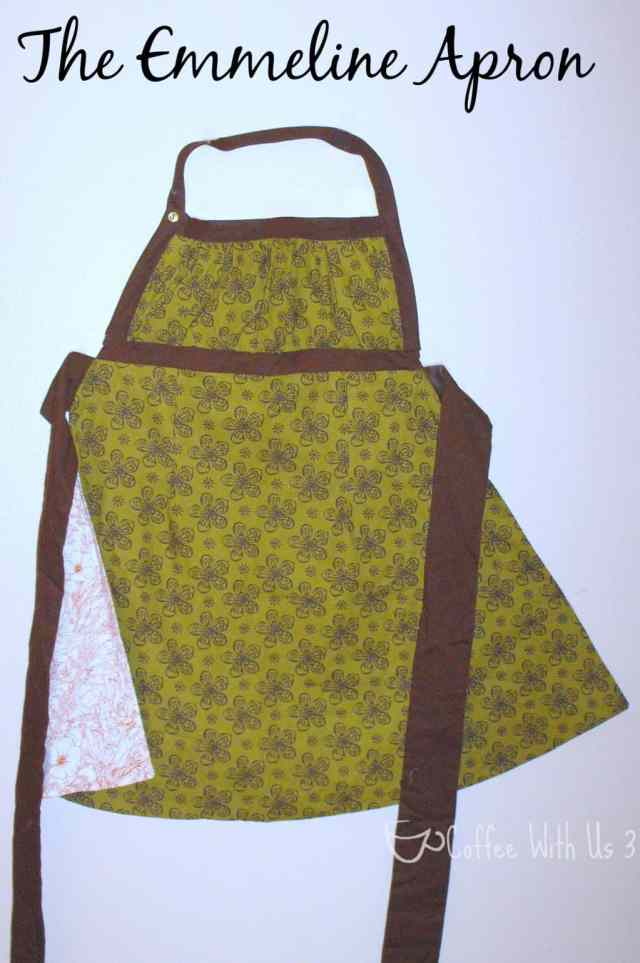 Emmeline Apron in Olive and Chocolate