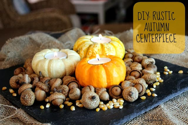 Rustic Autumn Centerpiece Finished Text