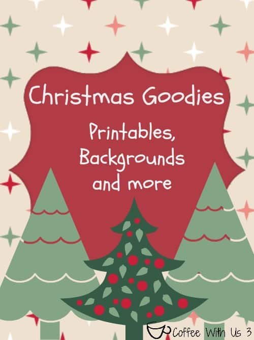 Free Holiday Printables, Backgrounds & More   Coffee With Us 3