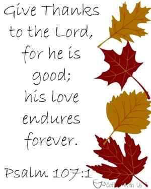 Give Thanks to the Lord Printable. Plus check out the other great printables for Thanksgiving & Christmas!