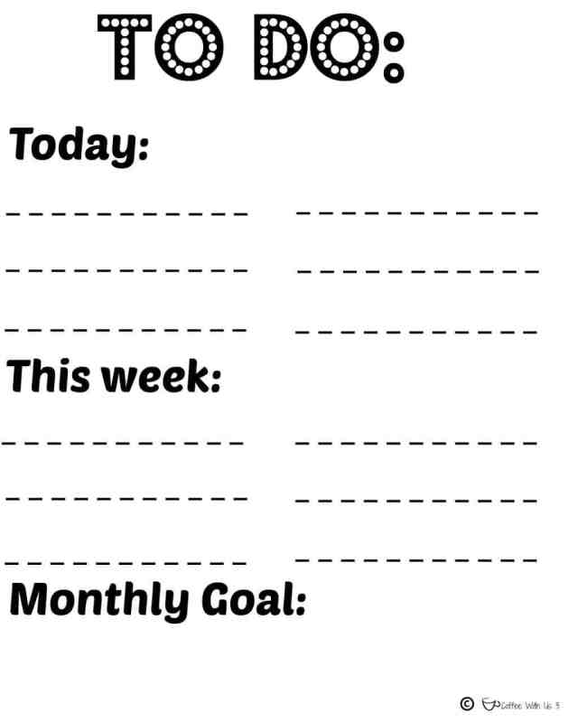 To do list printable - New Year Goodies