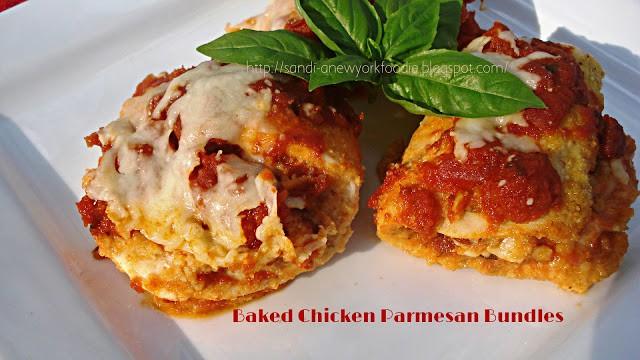 Baked Chicken parm bundles