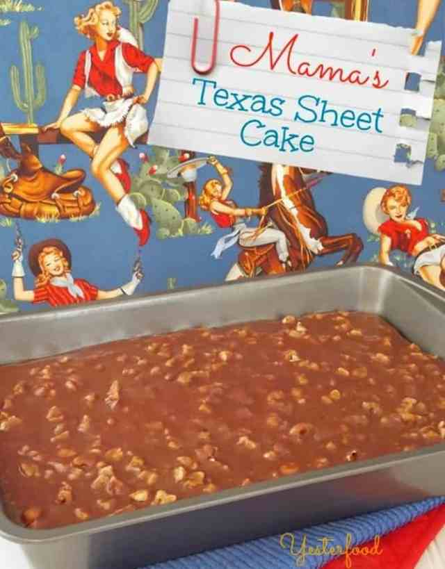 Texas Sheet Cake by Yesterfood