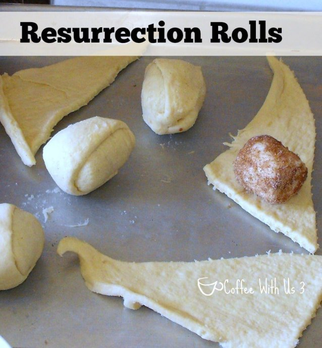 Resurrection Rolls teach that Jesus is alive! www.coffeewithus3.com #easter