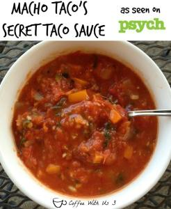 secret taco sauce - roasted tomatoes