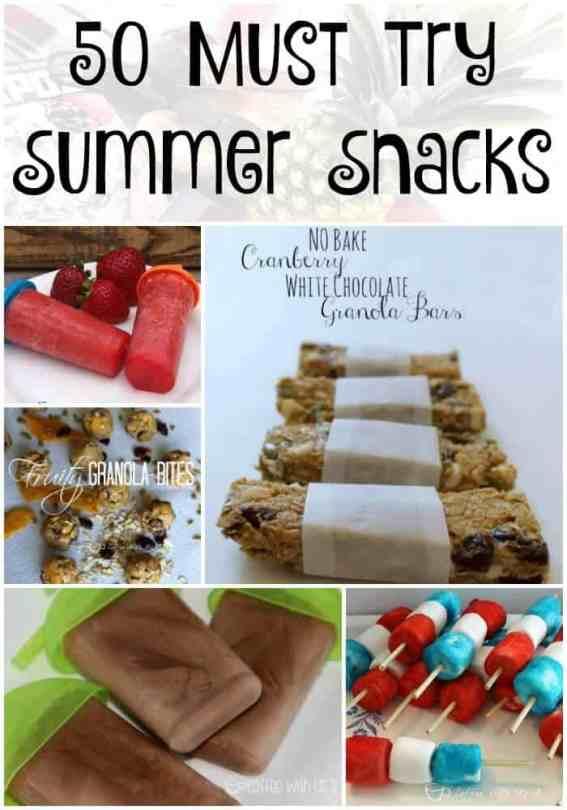 50 Must Try Summer Snacks | Are you looking for awesome snack recipes that your kids and you will love? These 50 recipes are sure to please even the pickiest kid! Full of fun popsicles recipes, granola bars & bites, dips, and other great snacks that will keep your family full all summer. Plus they are so easy & fast you won't spend your summer in the kitchen. Pin this to save for all summer long!