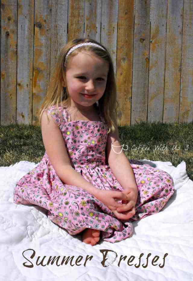 Fun summer dresses to sew for little girls! #sewing #dress