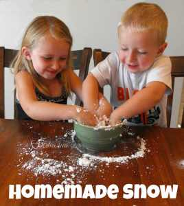 Homemade Snow #science experiment for #kids!