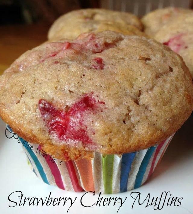 strawberry cherry muffins2