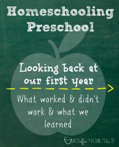 A first time homeschooler's thoughts on what works and doesn't work #homeschooling #preschool