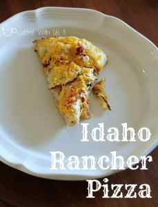 The Idaho Rancher Pizza is a delicious combination of chicken, bacon, ranch and potatoes!