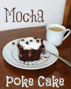Mocha Poke Cake 2