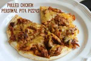 Pulled Chicken Personal Pita Pizzas