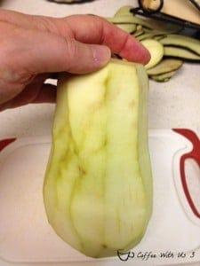 peeled egplant