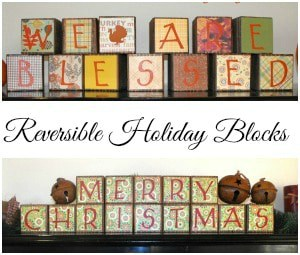 Reversible Thanksgiving and Christmas Blocks