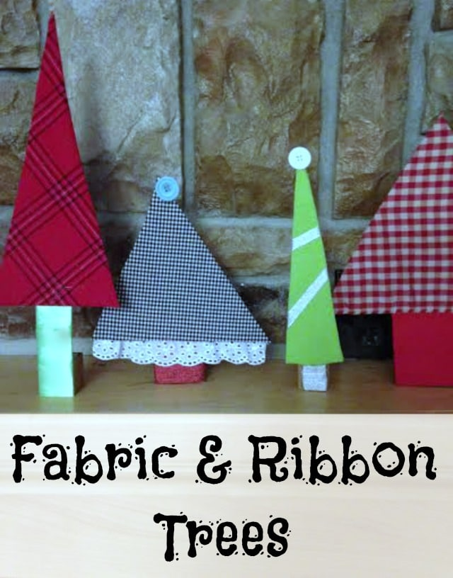 Got scrap fabric or old clothes laying around?  Turn them into these fun & easy fabric ribbon trees!!