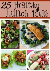 Whether you're dieting or just eating right these 25 healthy lunch ideas are sure to inspire you and get you on the right track.