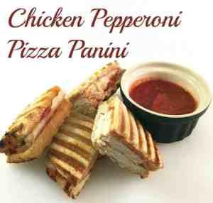Chicken Pepperoni Pizza Panini