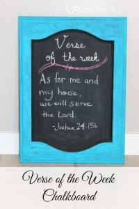 Verse of the Week Chalkboard helps you memorize scripture as a family!