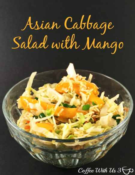 Asian Cabbage Salad with Mango - Coffee With Us 3