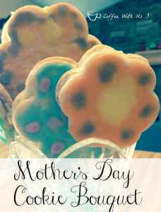 This Mother's Day Cookie Bouquet is a fun mother's day treat & craft all in one.  Would make a great & tasty gift for a Grandma!