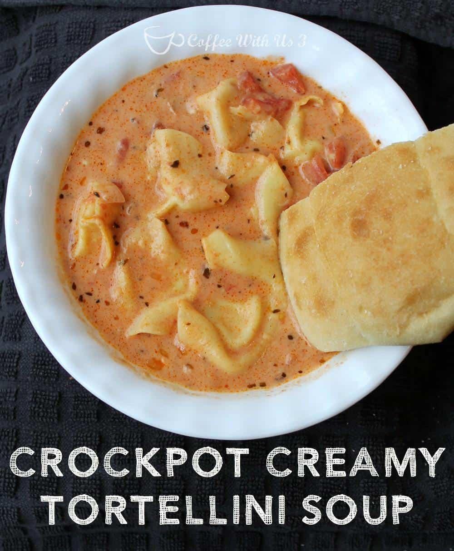 Crockpot Creamy Tortellini Soup | Coffee With Us 3