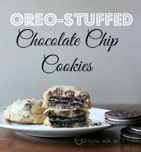 Oreo-stuffed Chocolate Chip Cookies