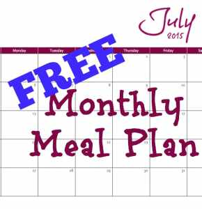 Free Monthly Meal Plan 3.7