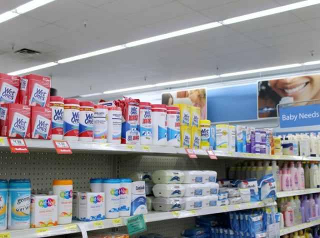 Wet Ones on the Shelf