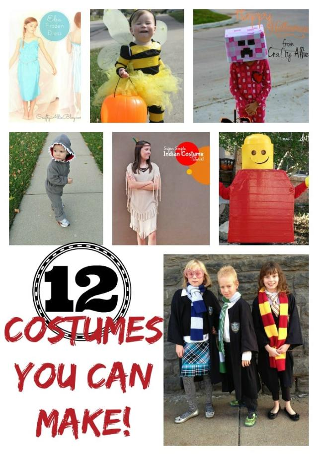 12 Cute Costumes you can make yourself