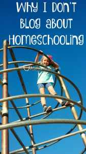 Why I don't blog about Homeschooling.
