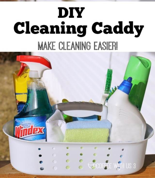 DIY Cleaning Caddy and Free printable cleaning schedule to help make cleaning quick and easy so you can spend time with your family! #‎ad‬ ‪#‎WindexMovieNight‬