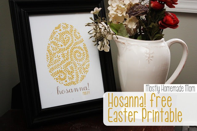 Hosanna free Easter printable 1