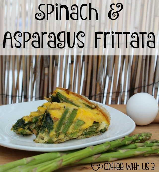 Yummy vegetables & eggs mixed together to make this easy & extremely delicious Spinach & Asparagus Frittata.