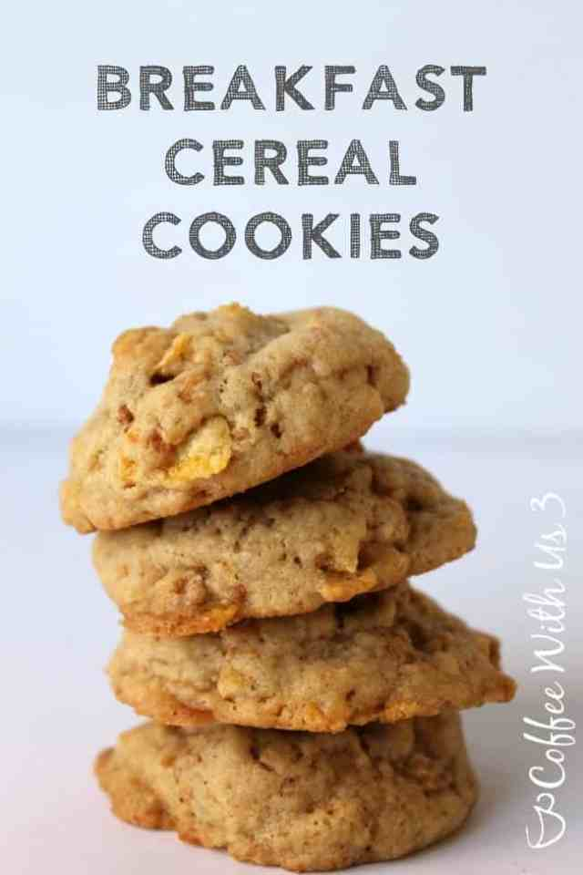 Breakfast Cereal Cookies made with Post Honey Bunches of Oats Crunch O's Cereal #CerealAnytime #ad