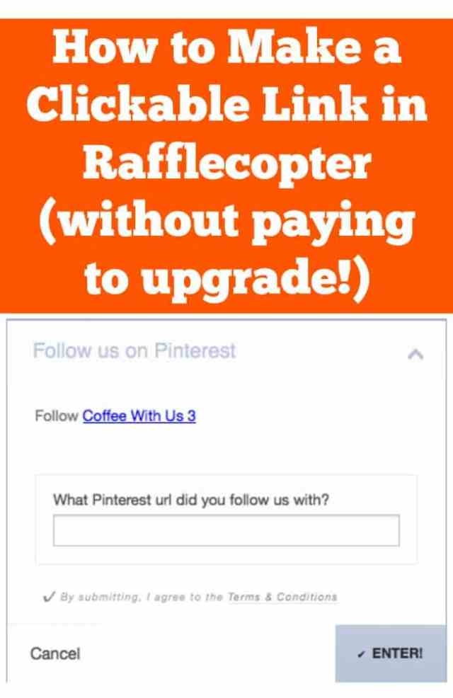 How to Make a Clickable Link in Rafflecopter