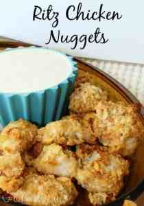 Ritz Chicken Nuggets. Quick and easy dinner!