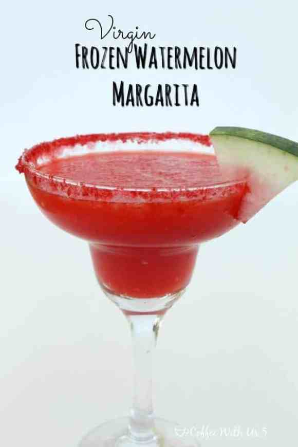 Virgin Frozen Watermelon Margaritas are a fun mocktail the whole family can enjoy!