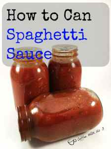 How to can spaghetti sauce