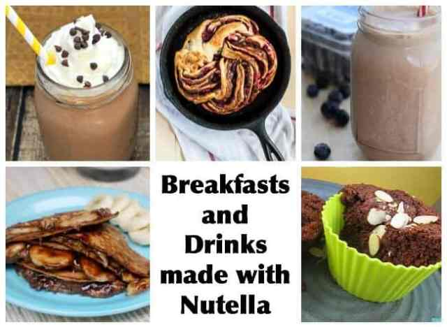 25+ Nutella Recipes: Breakfasts, drinks, cookies, truffles, frozen and regular desserts, and more!