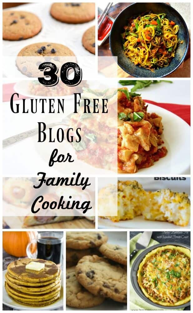 30 Gluten Free blogs for family cooking
