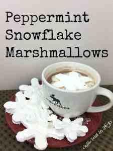 Peppermint Snowflake Marshmallows