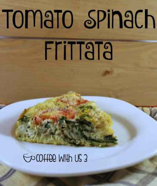 Delicious & easy this Tomato Spinach Frittata is a crowd-pleaser at breakfast, brunch, or dinner.