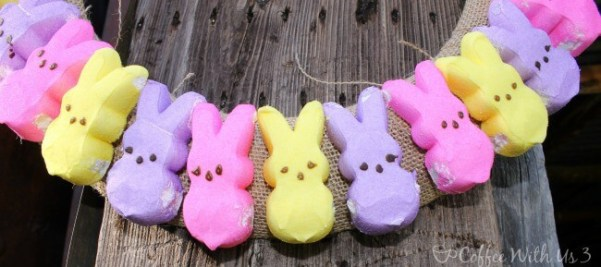 Get your home ready for Easter with this simply cute DIY Peeps Wreath!