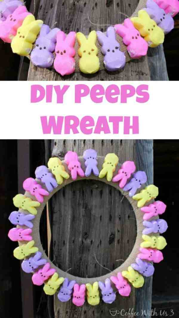 DIY Peeps Wreath | Get your home ready for Easter with this simply cute DIY Peeps Wreath!
