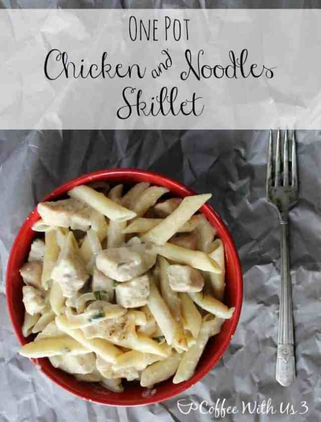 When you need a dinner recipe that's ready in less than 30 minutes, look no further than this One Pot Chicken and Noodles Skillet!