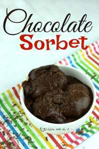 Chocolate Sorbet is a delicious frozen dessert. The amazing flavor of this dessert makes you forget that it is dairy free.